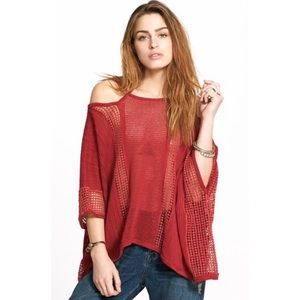 Free People Echo Pullover Knit  Top Size Medium
